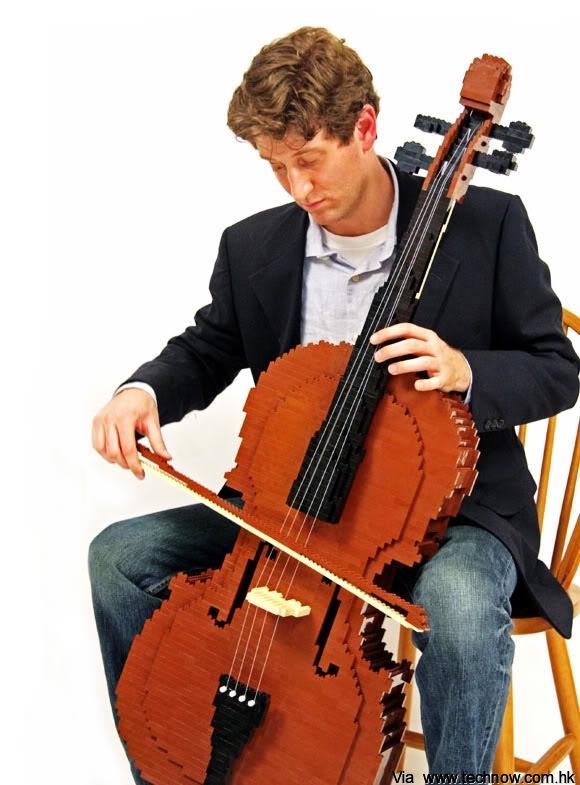 LEGO-Cello-instrument-weird