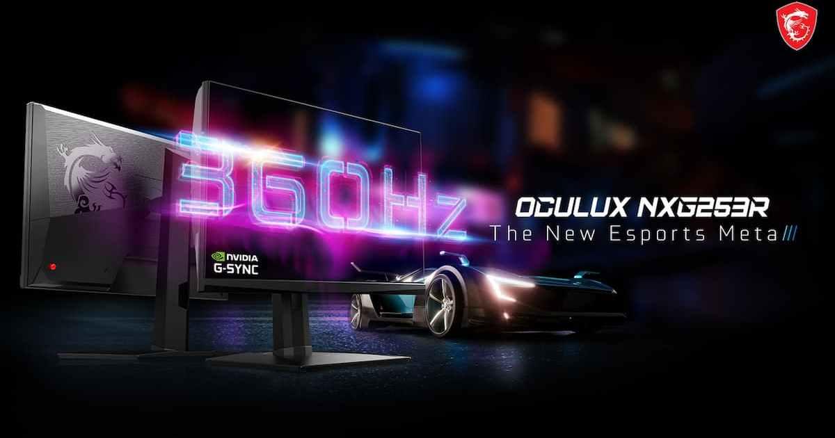 令人驚異的360hz刷新率!msi旗下新品牌的「oculux-nxg253r」電競螢幕即將在日本開賣!